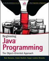 Beginning Java programming [electronic resource] : the object-oriented approach