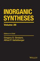 Inorganic syntheses. Volume 36 [electronic resource]