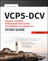 VCP5-DCV : vmware certified professional-data center virtualization on vSphere 5.5 : study guide : exam VCP-550