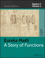 Eureka math : a story of functions. Algebra II. Module 3, Exponential and logarithmic functions.