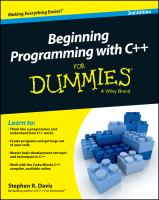 Beginning programming with C++ for dummies [electronic resource]