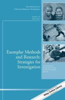 Exemplar methods and research : strategies for investigation