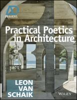 Practical Poetics in Architecture.