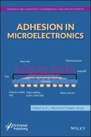 Adhesion in microelectronics [electronic resource]