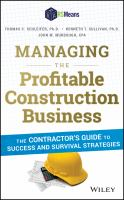 Managing the profitable construction business [electronic resource] : the contractor's guide to success and survival strategies