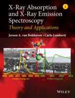 X-ray absorption and X-ray emission spectroscopy: theory and applications cover