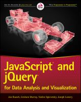 Javascript and jQuery for data analysis and visualization [electronic resource]