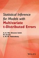 Statistical inference for models with multivariate t-distributed errors [electronic resource]