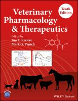 Veterinary pharmacology and therapeutics /