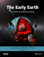 The early earth [electronic resource] : accretion and differentiation