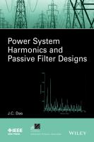 Power system harmonics and passive filter design [electronic resource]