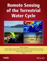 Remote sensing of the terrestrial water cycle [electronic resource]