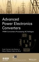 Advanced power electronics converters [electronic resource] : PWM converters processing ACvoltages