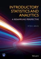 Introductory statistics and analytics : a resampling perspective