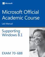 Supporting Windows 8.1 : exam 70-688. Lab manual