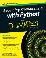 Beginning programming with Python® for dummies® [electronic resource]