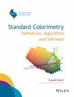 Standard colorimetry [electronic resource] : definitions, algorithms, and software