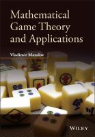 Mathematical game theory and applications [electronic resource]