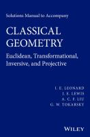 Classical geometry [electronic resource] : euclidean, transformational, inversive, and projective