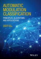 Automatic modulation classification [electronic resource] : principles, algorithms, and applications