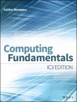 Computing fundamentals [electronic resource] : IC3 edition
