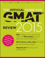 The Official Guide for GMAT Review 2015 [electronic resource]