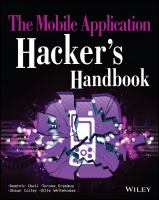 The mobile application hacker's handbook [electronic resource]