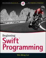 Beginning Swift programming [electronic resource]