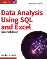 Data analysis using SQL and Excel [electronic resource]