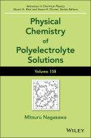 Physical chemistry of polyelectrolyte solutions [electronic resource]