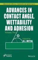 Advances in Contact Angle, Wettability and Adhesion, Volume Two [electronic resource]