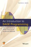 An introduction to SAGE programming [electronic resource] : with applications to SAGE interacts for mathematics