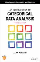 Introduction to categorical data analysis /
