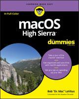 MacOS High Sierra for Dummies: By Bob LeVitus
