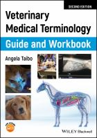 Veterinary medical terminology guide and workbook /