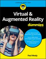 Virtual and Augmented Reality.