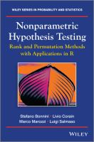 Nonparametric hypothesis testing [electronic resource] : rank and permutation methods with applications in R