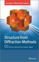 Structure from diffraction methods [electronic resource]