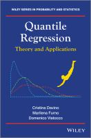 Quantile regression [electronic resource] : theory and applications