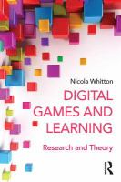 Digital games and learning [electronic resource] : research and theory