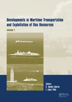 Developments in maritime transportation and exploitation of sea resources [electronic resource]