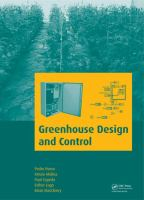 Greenhouse design and control [electronic resource]