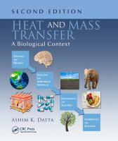 Heat and mass transfer : a biological context /