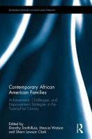 Contemporary African American families : achievements, challenges, and empowerment strategies in the twenty-first century /