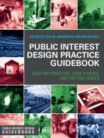 Public interest design practice guidebook : SEED methodology, case studies, and critical issues
