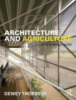 Architecture and agriculture : a rural design guide