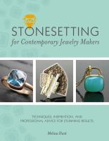 Stonesetting for Contemporary Jewelry Makers