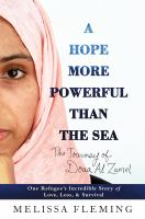book cover: A Hope More Powerful than the Sea by Melissa Fleming