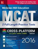 McGraw-Hill Education MCAT 2016 : 2 full-length practice tests cover image