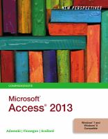 New perspectives on Microsoft Access 2013 : comprehensive